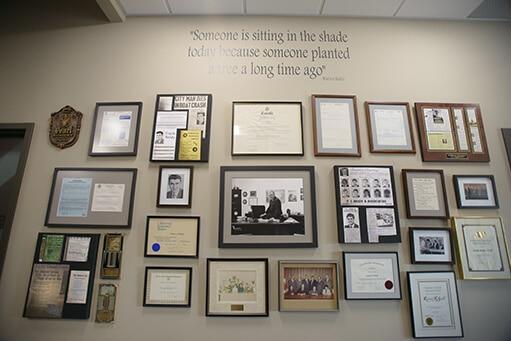 Insurance History Wall